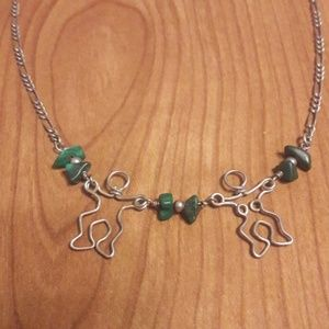 Silver and Jade choker/ necklace